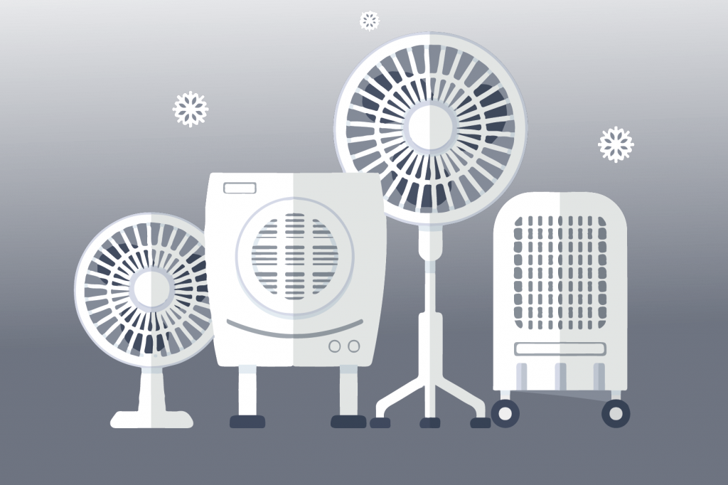 A Series of fans and heaters